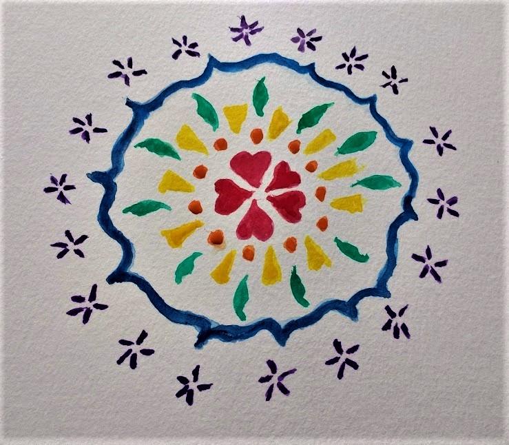 Watercolor Mandala #2 (2)