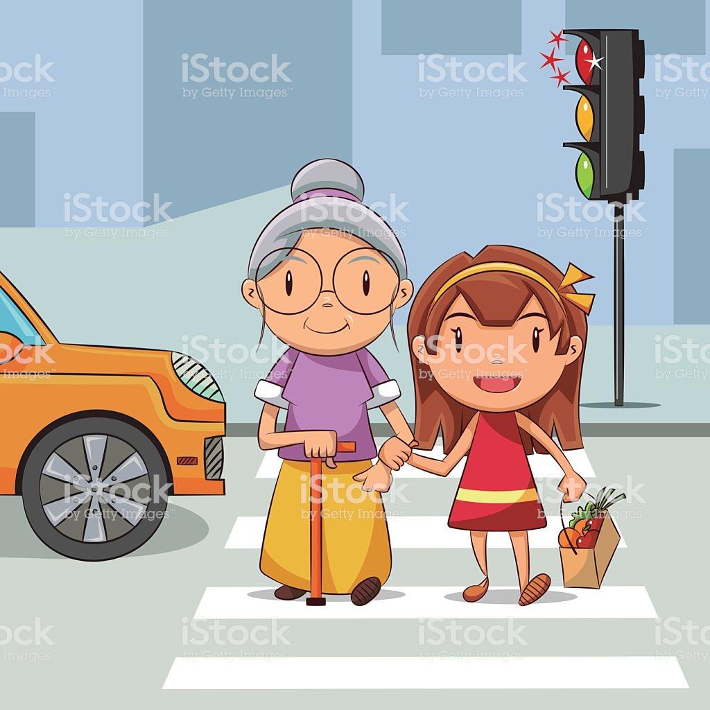 Girl and woman