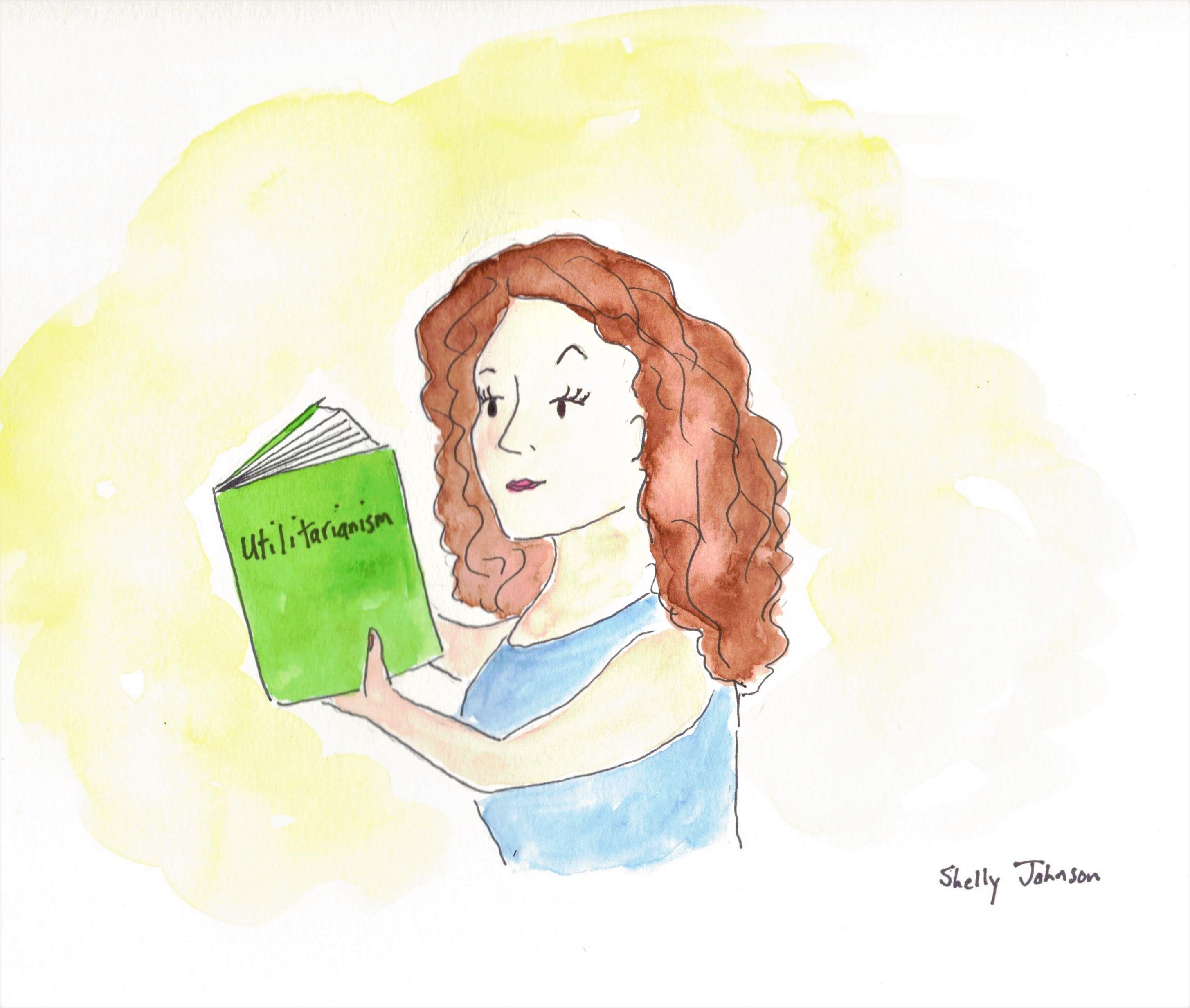 Girl reading Mill