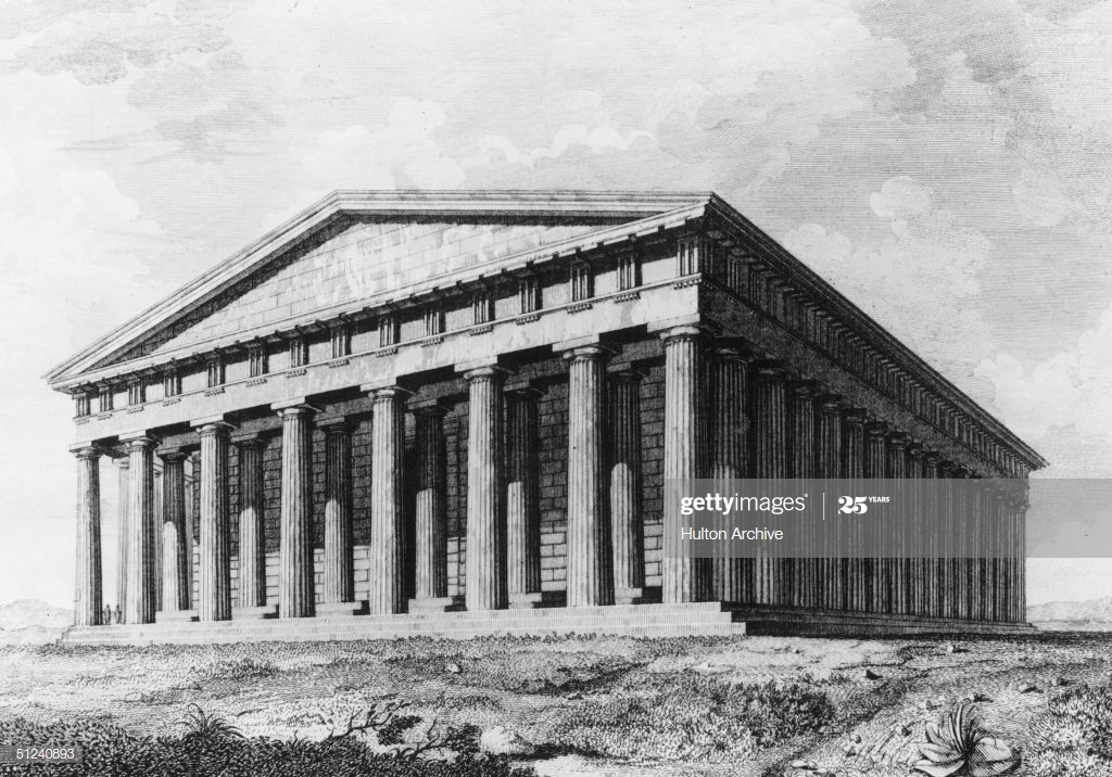 Circa 400 BC, The Parthenon in Athens. (Photo by Hulton Archive/Getty Images)